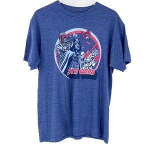 Star Wars blue short sleeve t-shirt size large